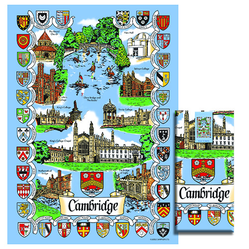 Cambridge Scenes Tea Towel