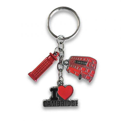 keyring with three charms