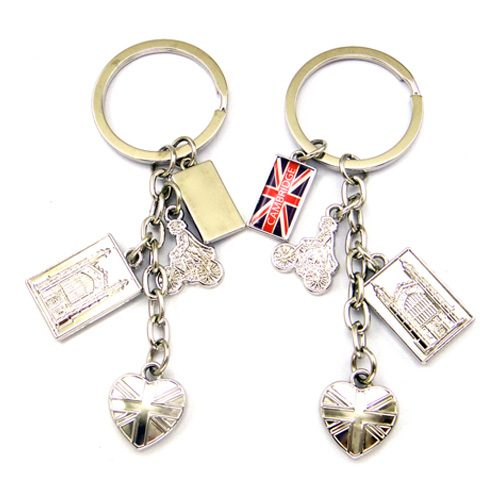 keyring with four charms