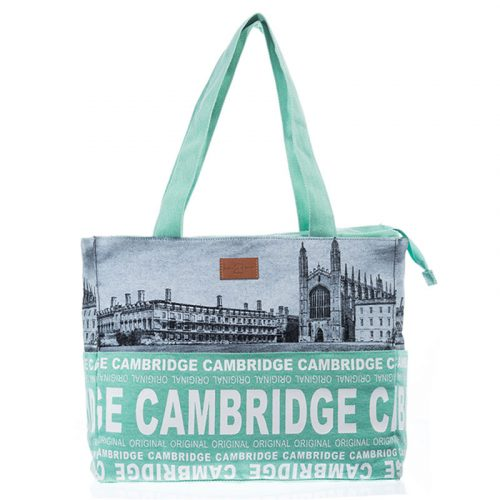 Cambridge shopping bag with scenes of Cambridge