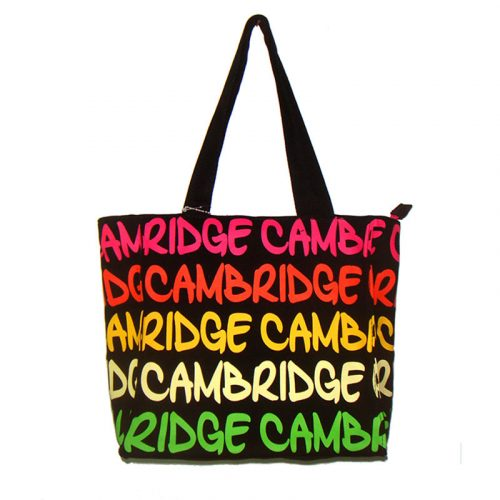 small mary bag with cambridge lettering in different colours