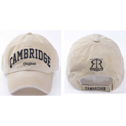 Dorian beige cap with Cambridge on the front