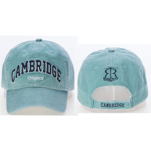Dorain cap turquoise with Cambridge on the front