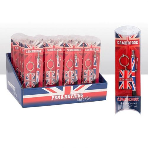 CAmbridge Union Jack Pen and Keyring