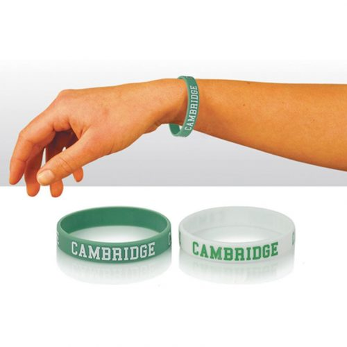 Cambridge writsband in blue and white