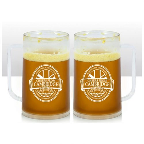 Cambridge beer mug with cheers