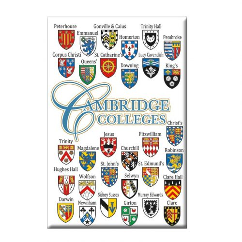 College crests magnet in white