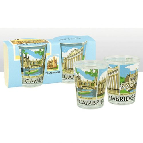 Set of 2 contemporary scenes shot glasses