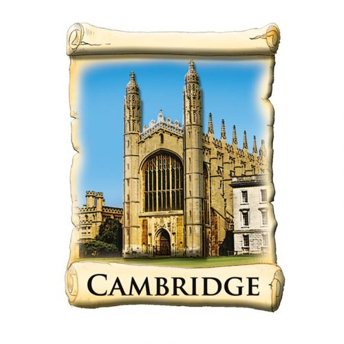 A resin magnet of Kings College Cambridge