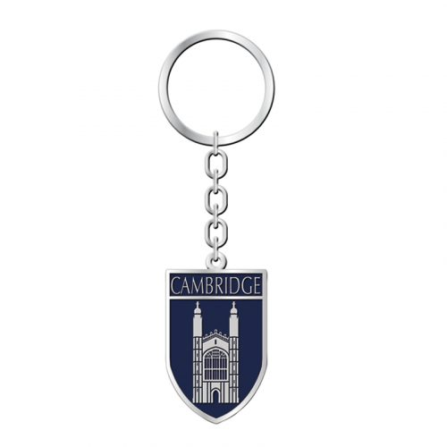 Keyring with leather kings college crest shield