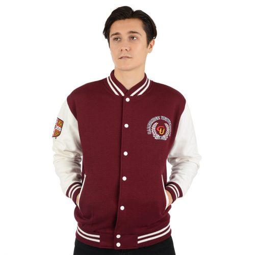 University of Cambridge Baseball Jacket - Maroon