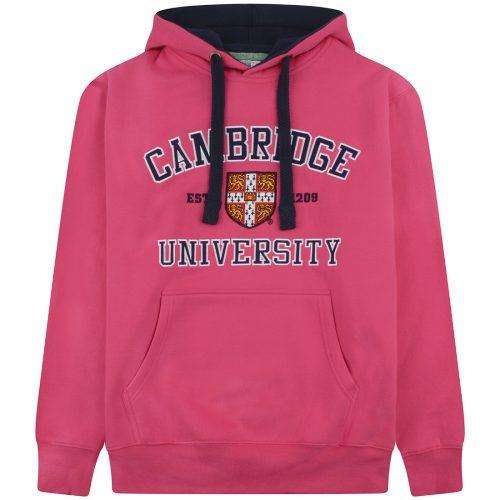 University of Cambridge Embroidered Hoodie - Fuchsia