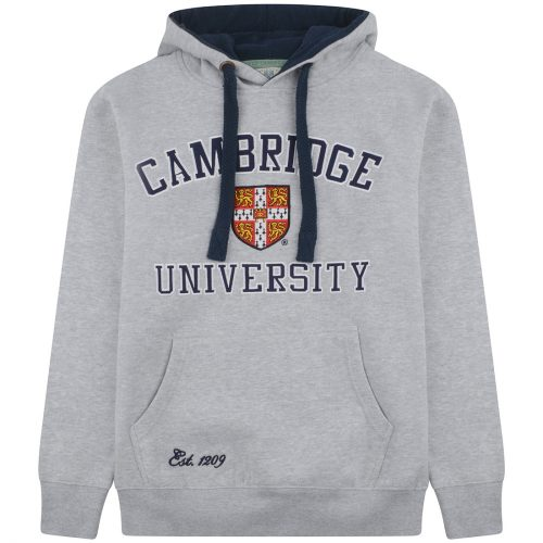 University of Cambridge Embroidered Hoodie - Grey