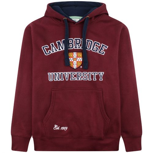 University-of-Cambridge-embroidered-hoodie-maroon