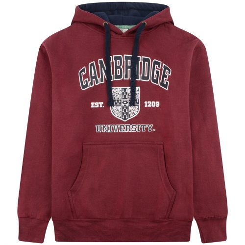 University-of-Cambridge-harvard-crest-printed-hoodie-maroon