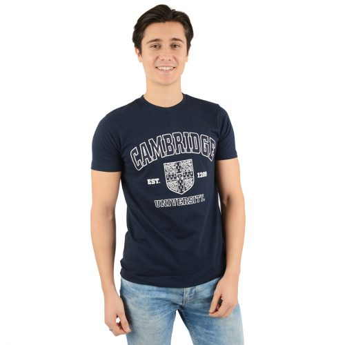 University of Cambridge Harvard Crest Printed T-Shirt - Navy