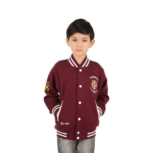 University of Cambridge Kids Varsity Jacket - Maroon