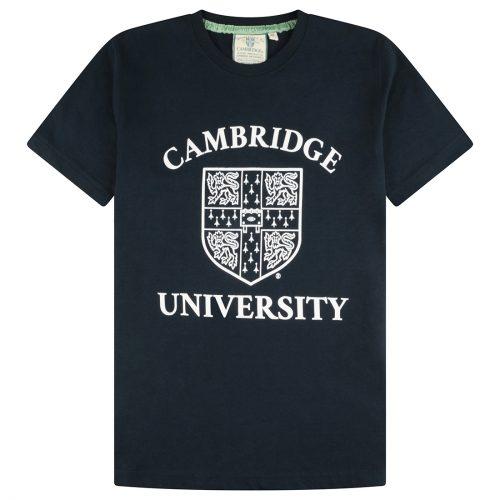 University of Cambridge Large Crest Printed T-Shirt - Navy