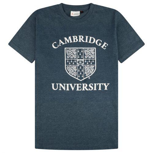 University of Cambridge Large Crest Printed T-Shirt - Navy Marl
