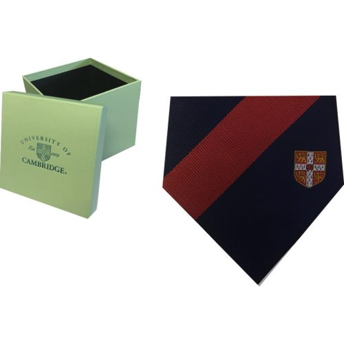 elizabeth-parker-University-of-Cambridge-red-crest-single-stripe-tie