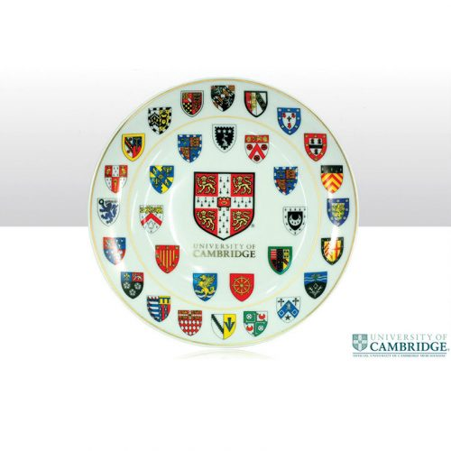 University of Cambridge College crests large 20cm plate