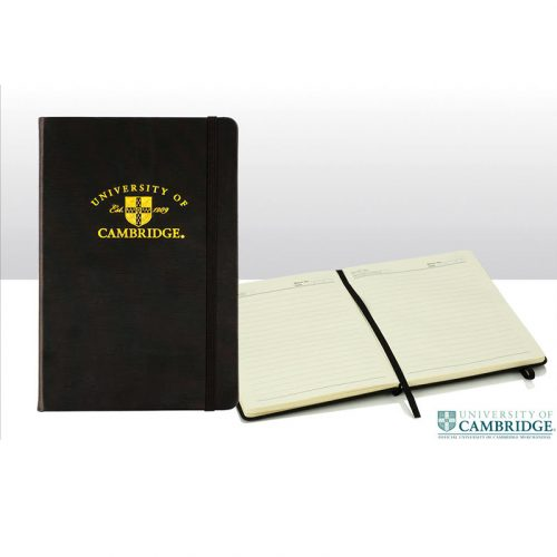 University of Cambridge A5 gold embossed pad