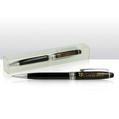 University of Cambridge ballpoint pen in clear case