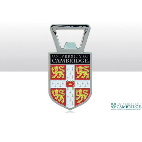 University of Cambridge red shield bottle opener fridge magnet