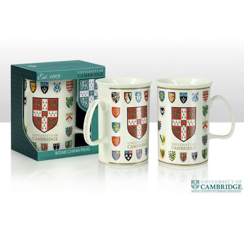 University of Cambridge college crests china mug