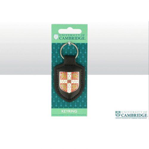University Keyring – Leather fob shield