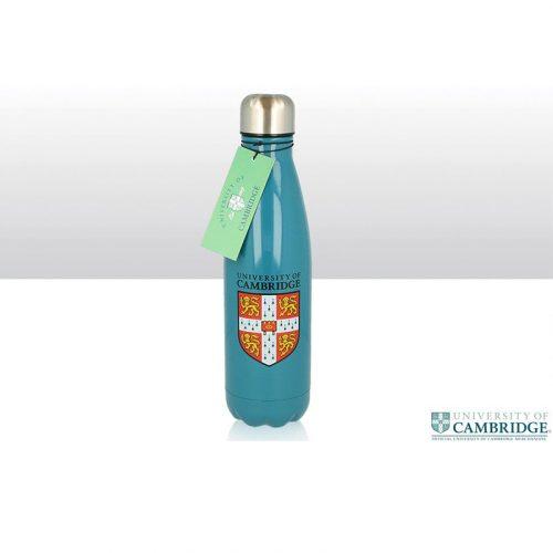 University metal water bottle