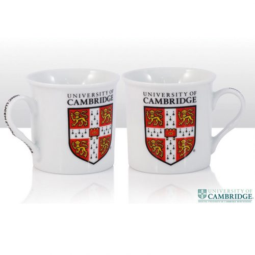 University Crest regal white mug