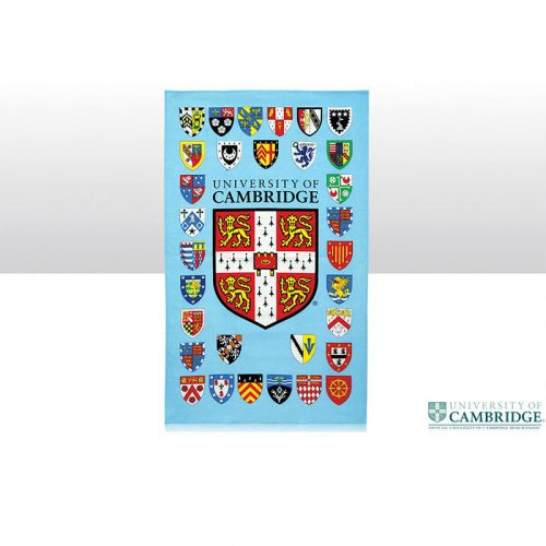 University college crests tea towel